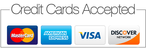 credit cards accepted visa amex mastercard